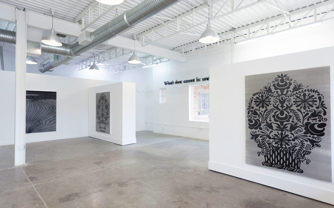 installation view What's done cannot be undone, Cydonia Gallery Dallas 2015
