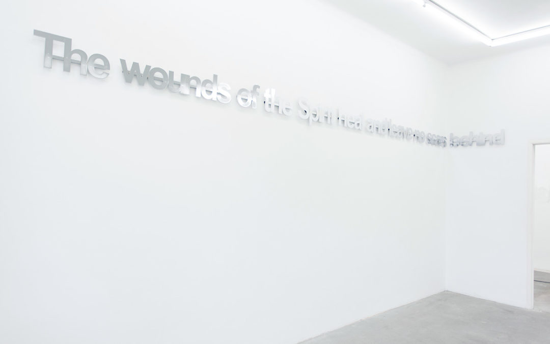 untitled (The wounds of the Spirit), 2014 installation view Eigen+Art Lab Berlin
