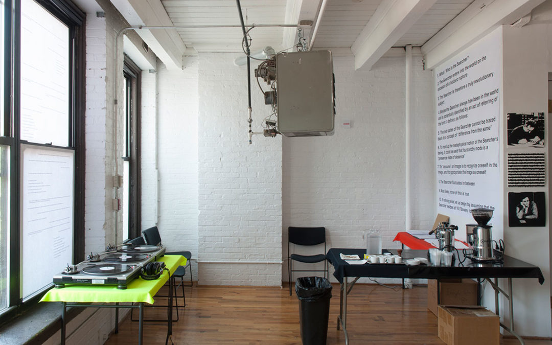 installation view Studio Exhibition Whitney Independent Study Program, 161 Bowery New York City 2011