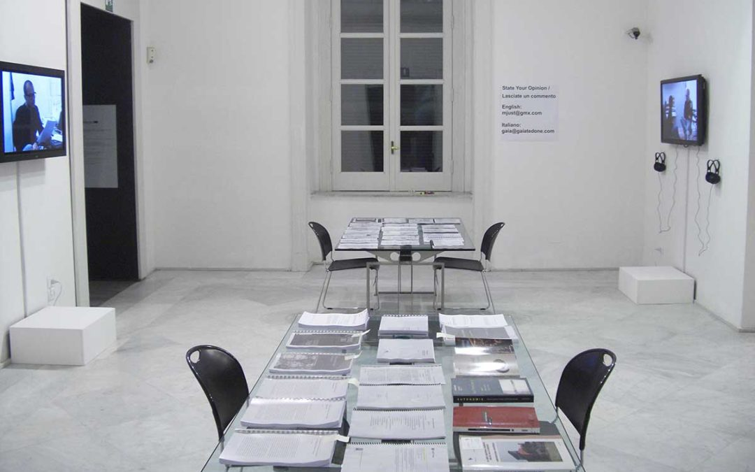 Transformation, Manufacturing and the Productive Forces of Knowledge and Language: A Temporary Socio-Economic System for the Distribution of Meaning, 2010 installation view PAN Napoli